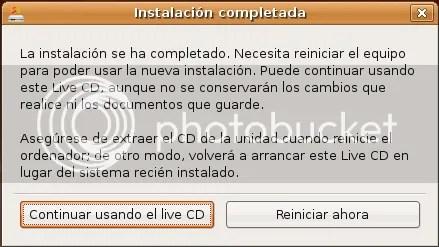 Finalizando la instalacion de Ubuntu