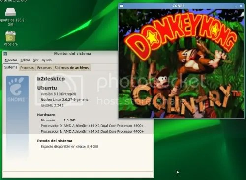 Donkey Kong funcionando en Ubuntu 8.10