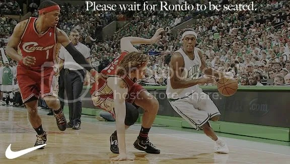 Please wait for Rondo to be seated.