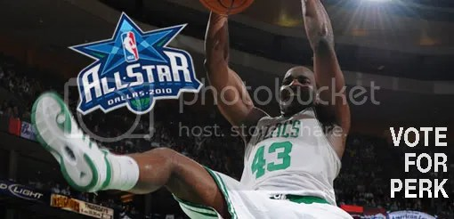 Perk is a freakin' all-star: and you know this, man!