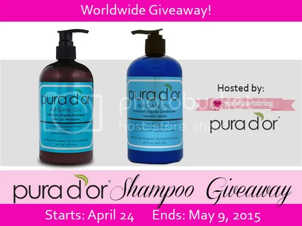 Pura d'or Shampoo Giveaway