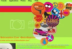 Cool Pins Bebo Skin - click to get this skin!