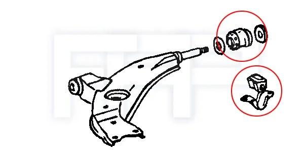 ROCAR Corolla AE101 AE102 Front Lower Control Arm Bushing