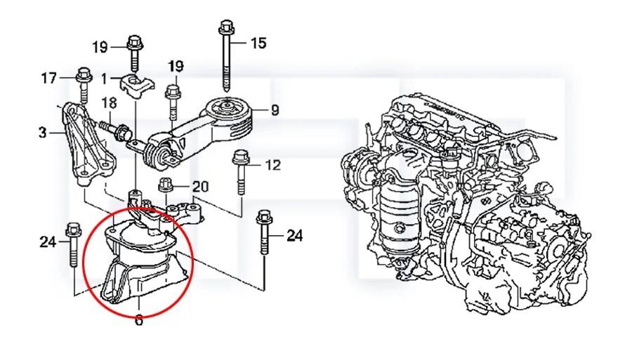 ROCA Civic 06-10 FA1 FG1 R18 R18A1 1.8L Engine Motor Mount