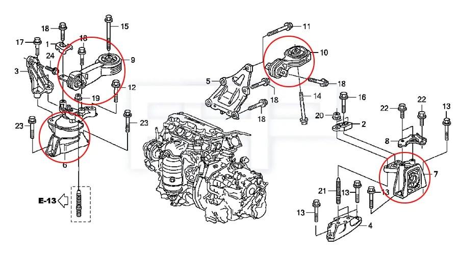 ROCA Civic FA1 FG1 R18A1 1.8L MT Transmission Tranny