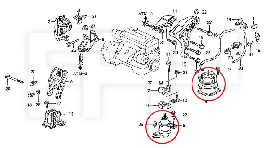 ROCA Accord 98-02 4cyl 2.3L F23A CG5 GC3 AT Engine Motor
