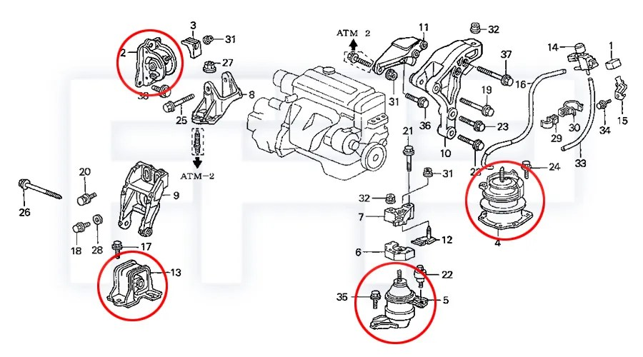 ROCA Accord 98-02 4cyl 2.3L F23A CG5 AT Transmission