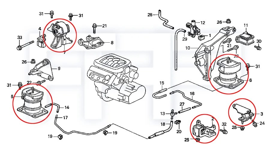 2001 Honda Accord Coupe Engine Diagram, 2001, Free Engine