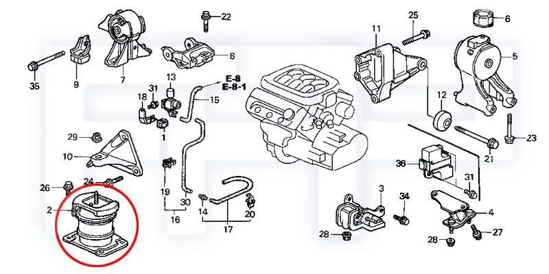 99 2.3 acura motor diagram