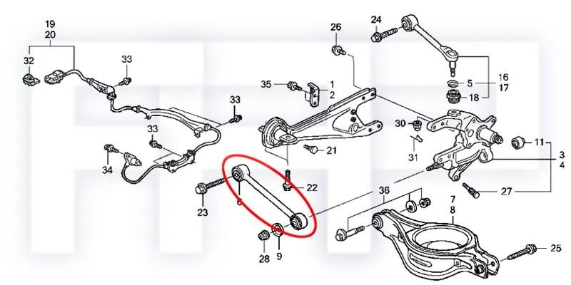 ROCA Odyssey 99-04 RL1 MDX 01-06 YD1 Rear Lower Control