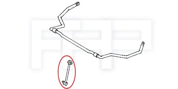 ROCA Mazda Protege 323 BH Rear Stabilizer Sway bar Swaybar