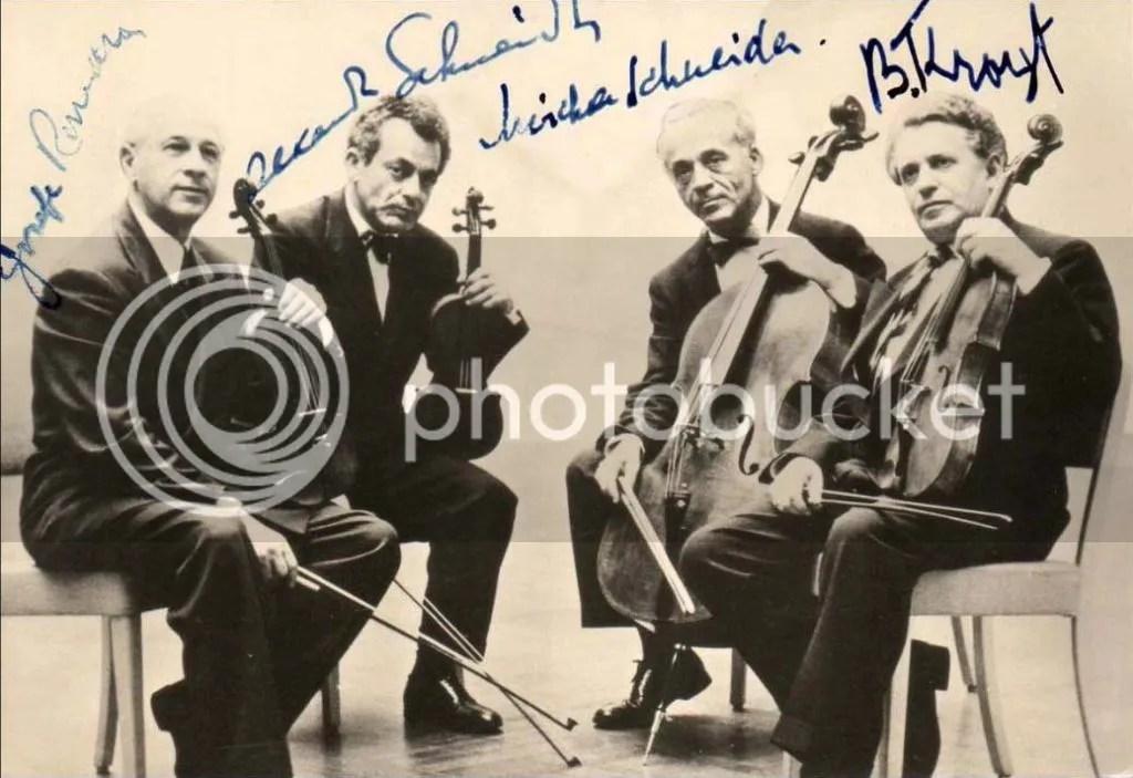 Autogramm Budapest String Quartet