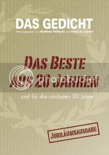 Cover Das Gedicht 20, Das Beste aus 20 Jahren, Jubiläumsausgabe 2012
