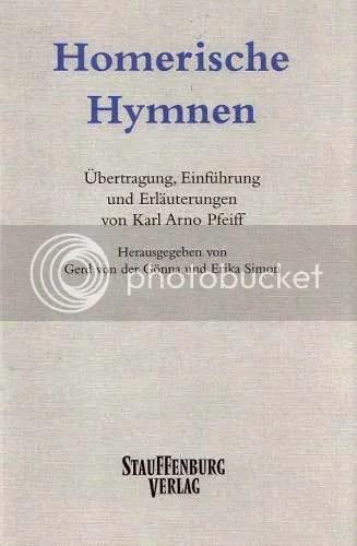 Cover Homerische Hymnen, Stauffenburg Verlag, 2002
