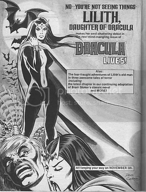 Lilith, Daughter of Dracula, Marvel Comics Cover, October 1974
