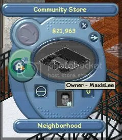 Proof of the Community Store owned by MaxisLee in Test Center 3