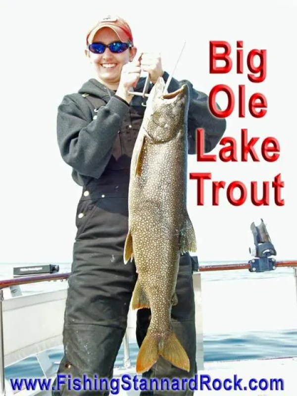 BigOleLakeTrout Fishing the Rock   Click Below for Much More...