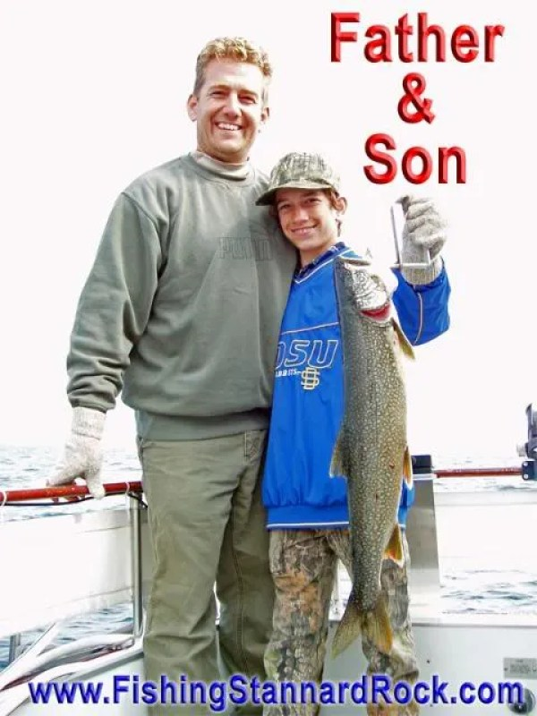 FatherSon Fishing the Rock   Click Below for Much More...