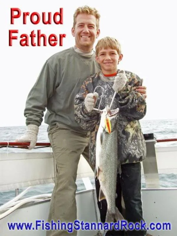 Proudfather Fishing the Rock   Click Below for Much More...
