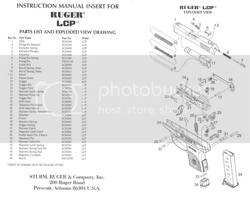 ruger pistol parts diagram yamaha golf cart wiring gas new lcp removed 31 hammer catch pin forum instead of merely tapping the back into it s proper place i foolishly so now have out and appears 27