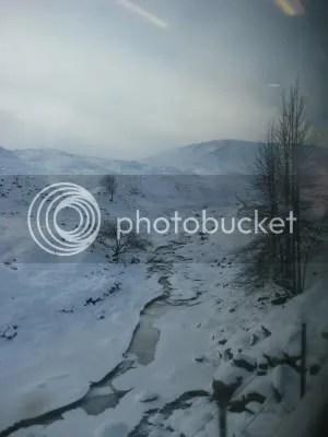 frozen creek in scotland
