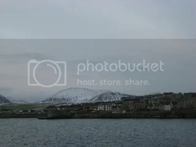 Orkney mainland and Stromness in Snow