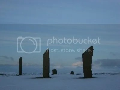 Orkney - Standing Stones in Snow