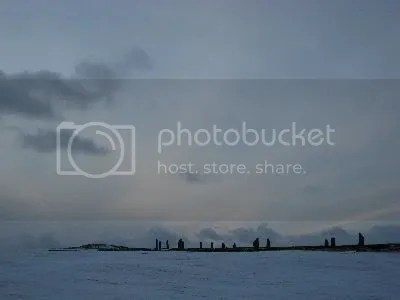 Orkney - Standing Stones of Stenness in Snow
