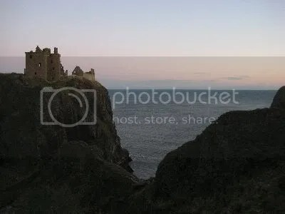 Dunnottar Castle at sunset