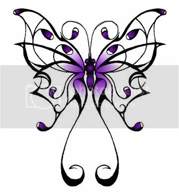 Tribal butterfly tattoos