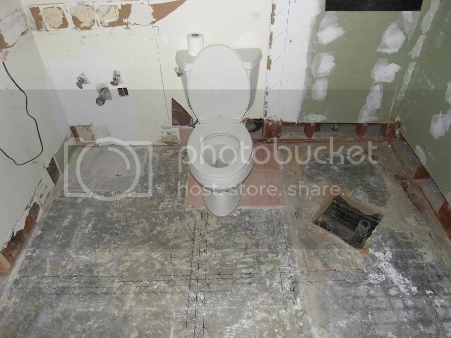Moving toilet location in concrete slab  Terry Love