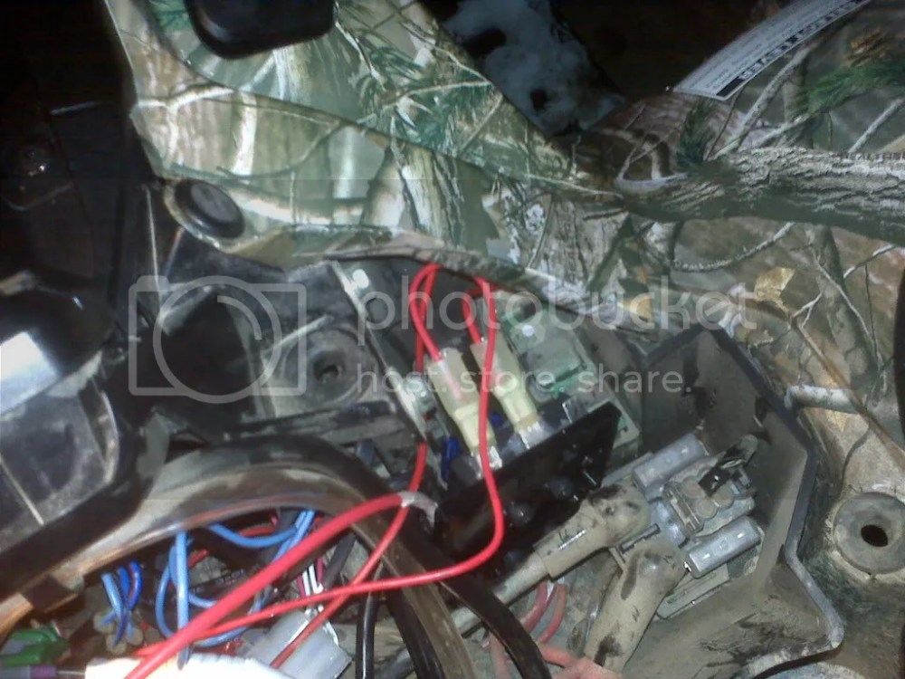 medium resolution of i added the quick connect to the other end and then connected the heated grips to the fuse block