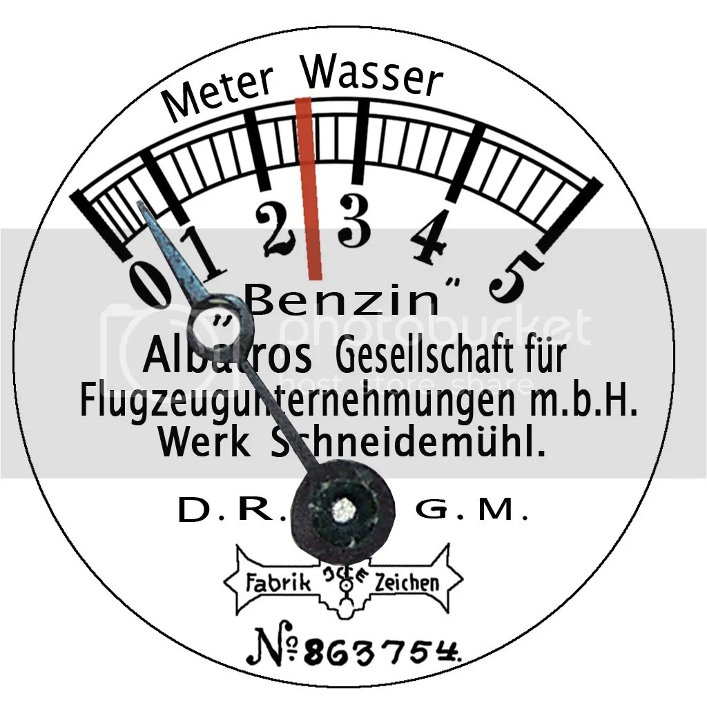 Albatros Fuel Pressure Gauge Photo By Teus Nl