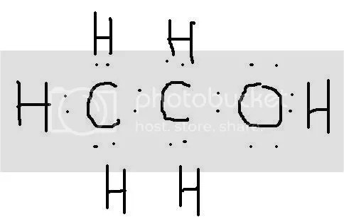 How does the electron dot structure for C2H5OH look like