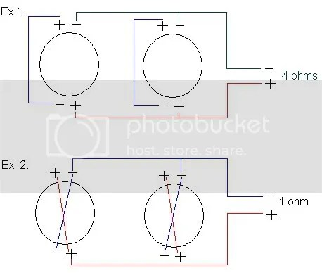 4 Ohm Dual Voice Coil Wiring Diagram 4 Ohm DVC Wiring