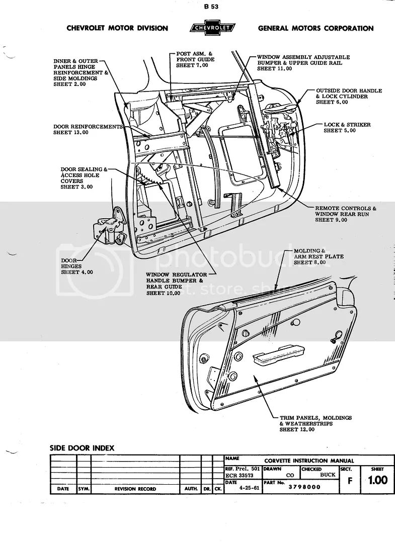 corvette door wiring diagram
