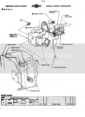 1962 inner door diagrams  CorvetteForum  Chevrolet Corvette Forum Discussion