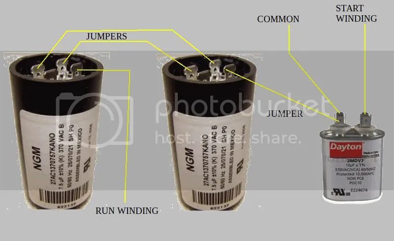 start run capacitor wiring diagram 2009 ford escape radio 3 240v motor how to hook up capacitors on speedaire does this rendition help you