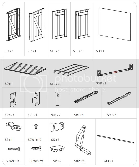 KETER Spare/Replacement Parts for Store It Out XL Storage