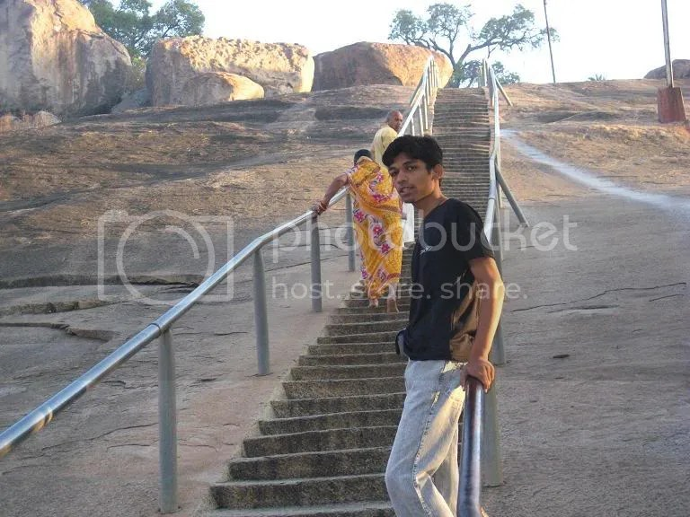 Myself (Piyush) at Chandragiri Stairs