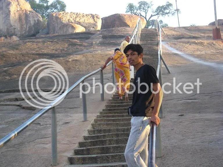 Myself (Piyush) at Chandragiri Stairs