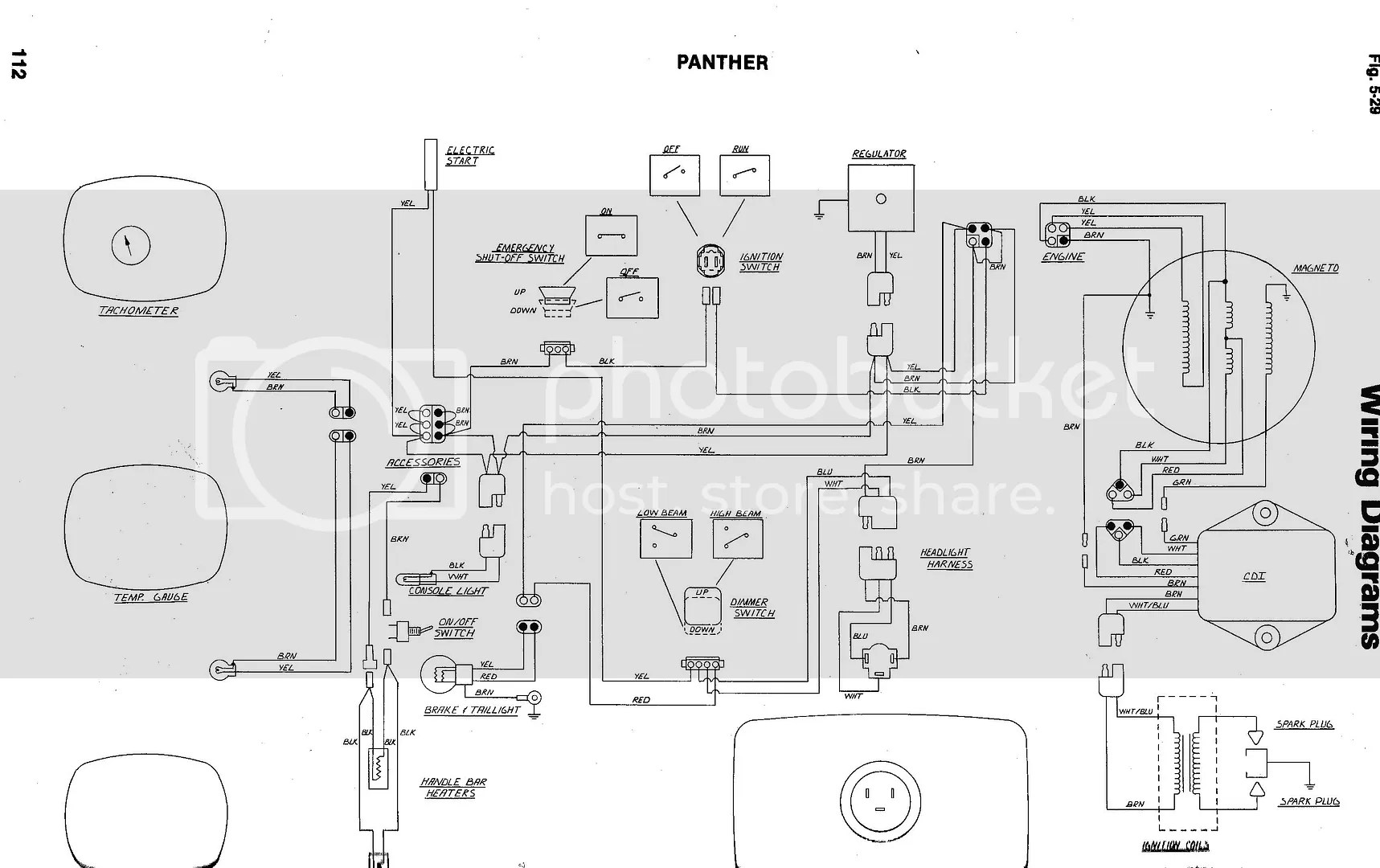 79 Arctic Cat Jag 3000 F/C Wiring Diagram Photo by