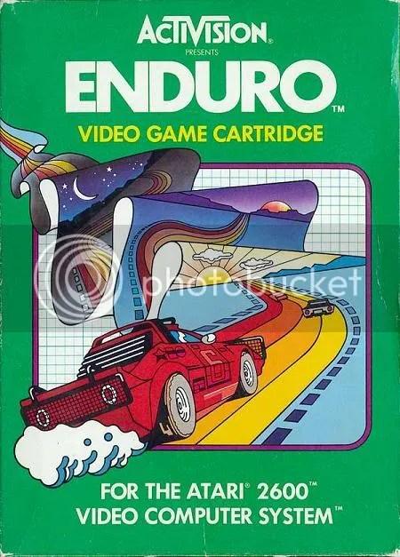 O clássico Enduro para Atari 2600