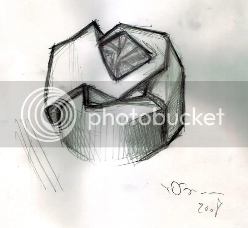 O design do anel feito por Yoshitaka Amano