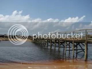 Bridge across lagoon in Akwidda