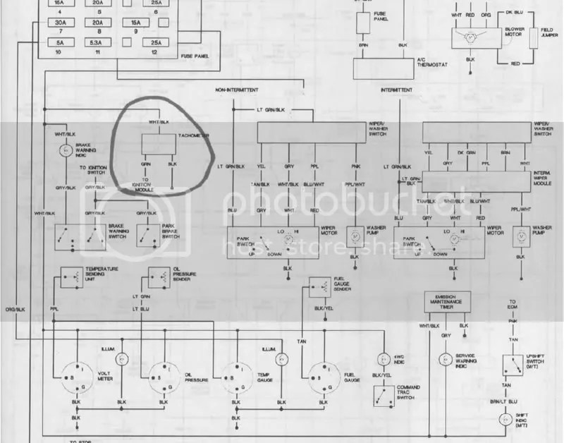 1989 Jeep Wrangler Gauge Wiring Diagrams : 40 Wiring