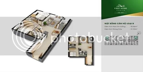 Căn Hộ First Home Premium Thủ Đức 2PN 55.86m2