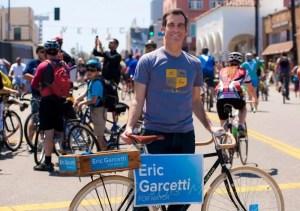 Mayoral Candidate Eric Garcetti at CicLAvia