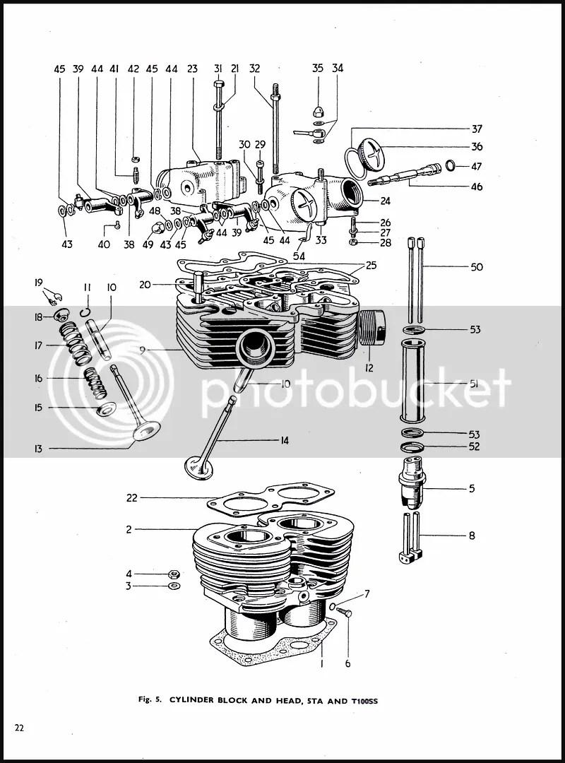 1965 TRIUMPH T90 T100 500cc TIGER COMPETITION TROPHY PARTS