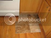 Which kitchen tile floor design layout, size